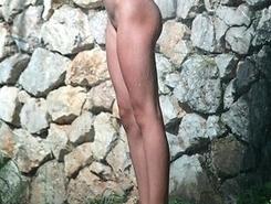 delicious young nudists takes sun-bath near beach resort jamaica
